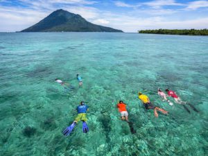 Snorkeling with Murex in Indonesia.