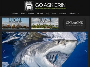 An expert in Adobe Lightroom and Photoshop, Erin Quigley can teach you how to better edit your underwater images.